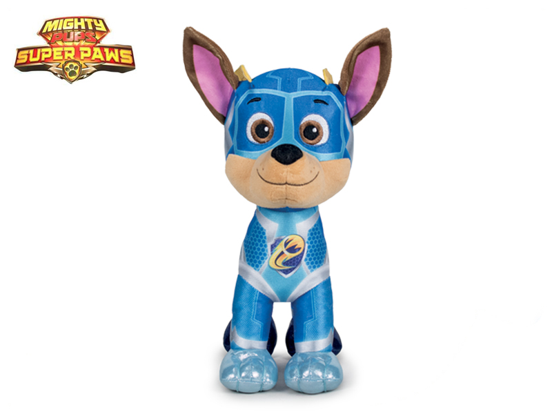 Paw Patrol Super Mighty Pups plyšový Chase 19cm 0m+