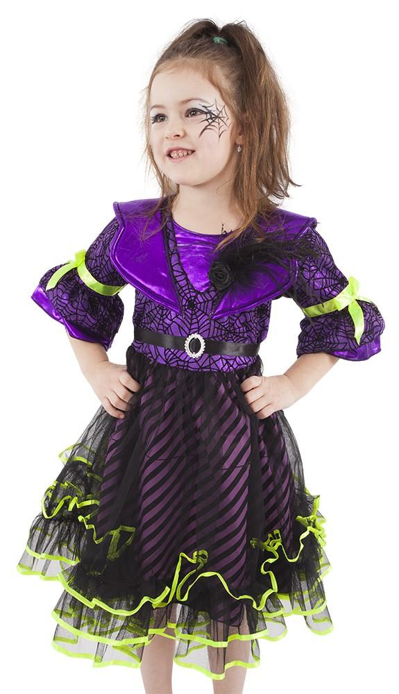 f6cd9ae557c karnevalový kostým čarodějnice halloween fialová vel.